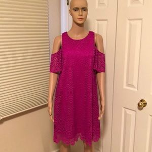 NWT Lilly Pulitzer Lace Cold Shoulder Dress Med.